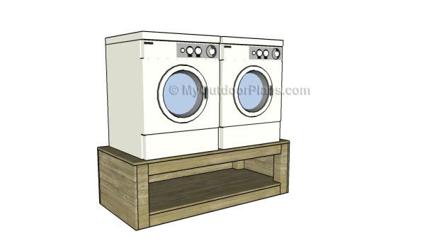Washer Dryer Pedestal Plans Myoutdoorplans Free Woodworking Plans And Projects Diy Shed Wooden Playhouse Pergola B En 2020 Porte Placard Laveuse Secheuse Plans