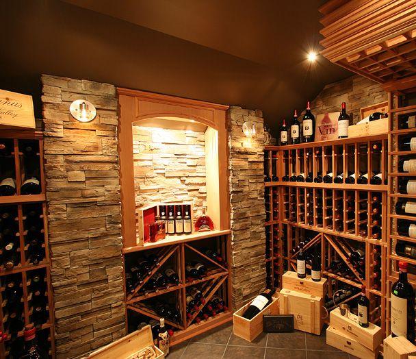 belle exemple de cave vin maison cave pinterest. Black Bedroom Furniture Sets. Home Design Ideas