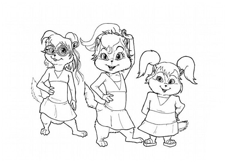 alvin und die chipmunks 4 | ausmalbilder kinder