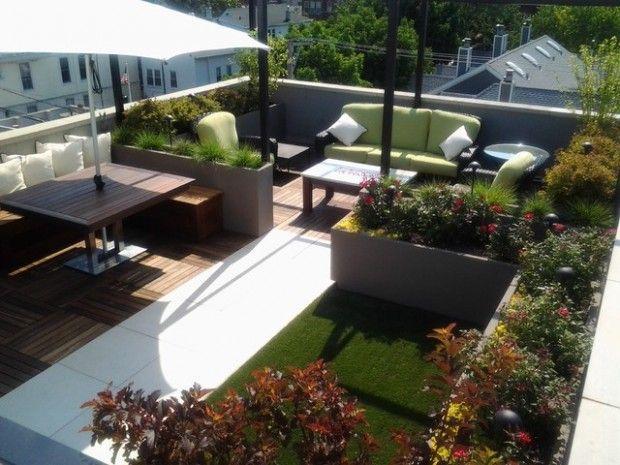 Dise o de terrazas en azoteas buscar con google terrazas balcon jardins y am nagement - Diseno de terraza ...