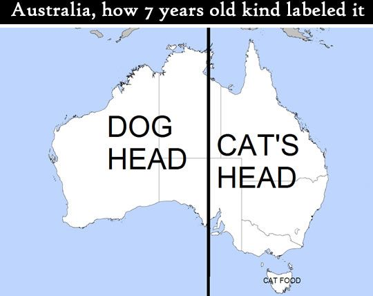 Some helpful life hack tips lets make life great again everything changed when the creative toddler realized that australia map looks like a dog head plus a cat eating cat gumiabroncs Image collections