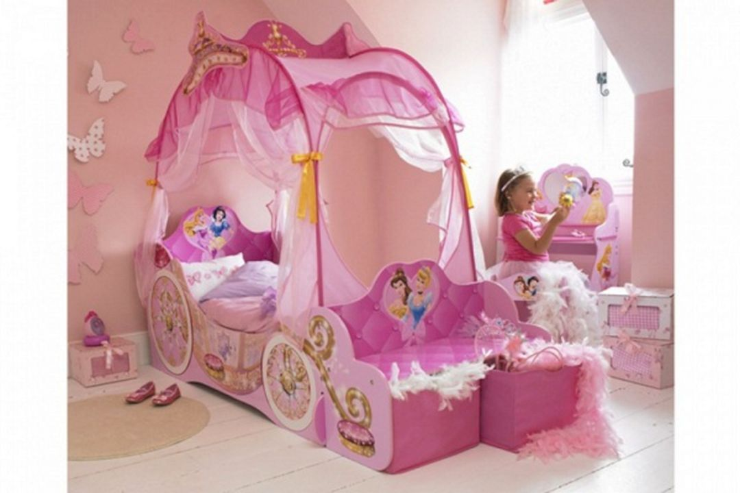 47 Ultimate Disney Princess Bedroom Ideas For Your Beloved Kids Toddler Canopy Bed Princess Carriage Bed Girls