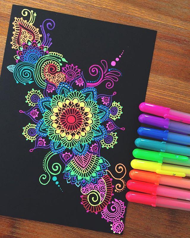 Hey Guys Another Gelly Roll Pen Doodle Hope Your All Having An Awesome Day Mandala Pen Zentangle Gellyroll Ink Gel Pen Art Mandala Design Art Pen Art