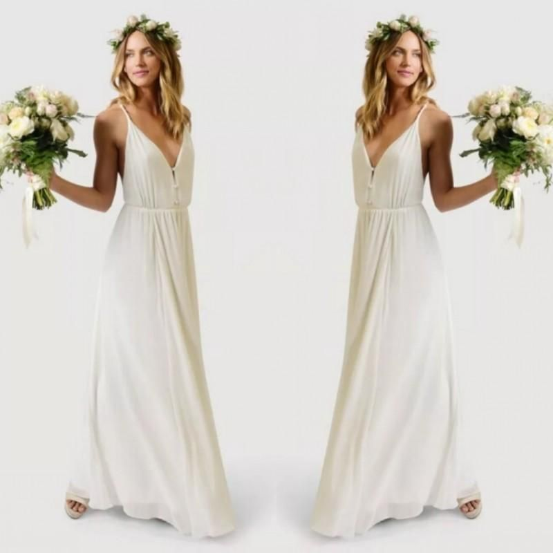 2015 Cheap Boho Wedding Gowns Summer Beach Wedding Party Bridal