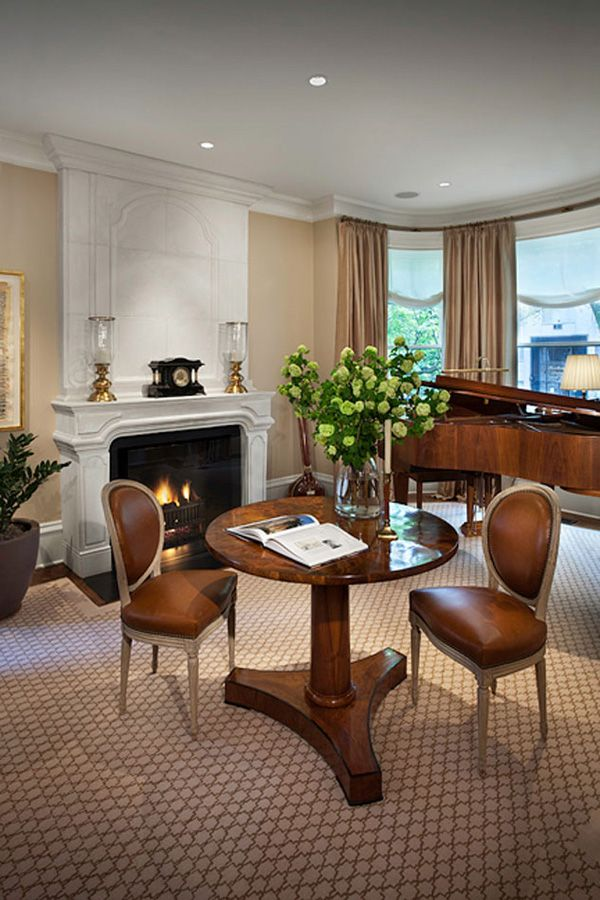 Chicago Greystone Living Room Fireplace Design By Tomstringerdesignpartners Tsdp Chicago Interiors Dining Table Home Decor