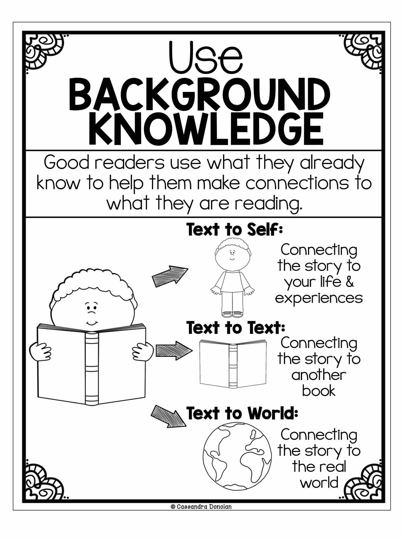 worksheet Making Connections Worksheet use background knowledge make connections reading teaching students to their prior while is so important to