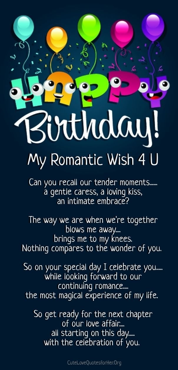 a happy birthday poem romantic | Cute Love Quotes for Her ...