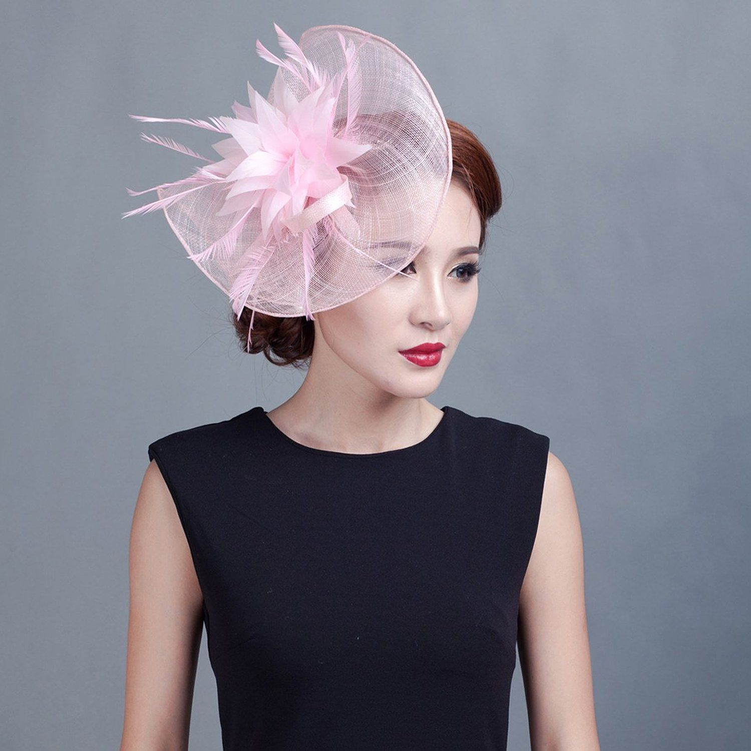 Feather Fascinator Pillbox Hat Kentucky Derby Hat  11a648822ac