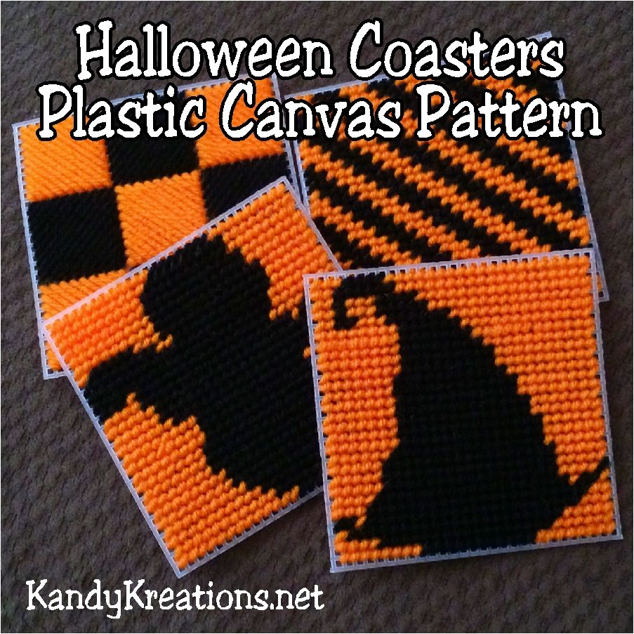 picture regarding Free Printable Halloween Plastic Canvas Patterns named Halloween Coasters Plastic Canvas Practice The Lovely