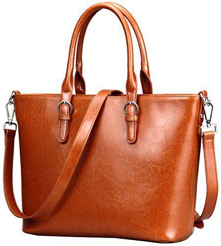 a0a7bcca36 Heshe Womens Handbag Leather Shoulder Cross Body Tote Bag... https