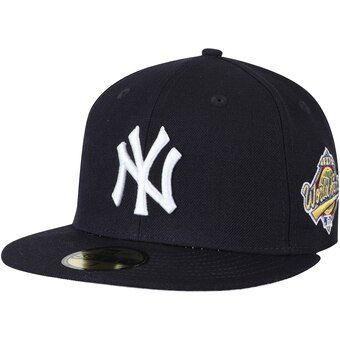 New York Yankees New Era 1996 World Series Wool 59fifty Fitted Hat Navy Fitted Hats New York Yankees Hats For Men