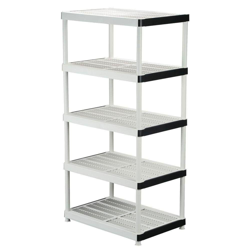 Heavy Duty Plastic Shelving For Garage Best Shelves Plastic