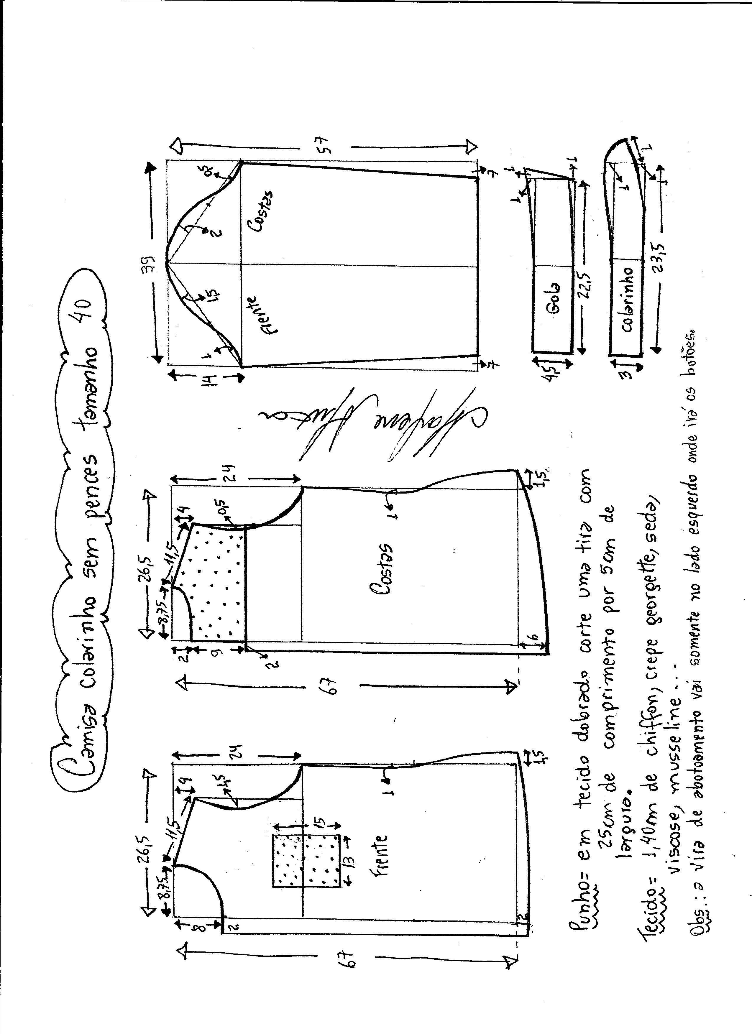 Patrón de camisa para mujer   DIY and crafts   Pinterest   Patrones ...