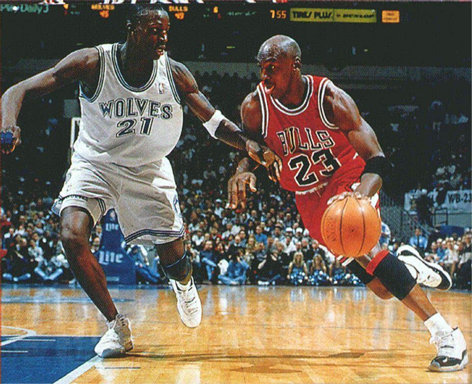 Michael Jordan Wearing the \