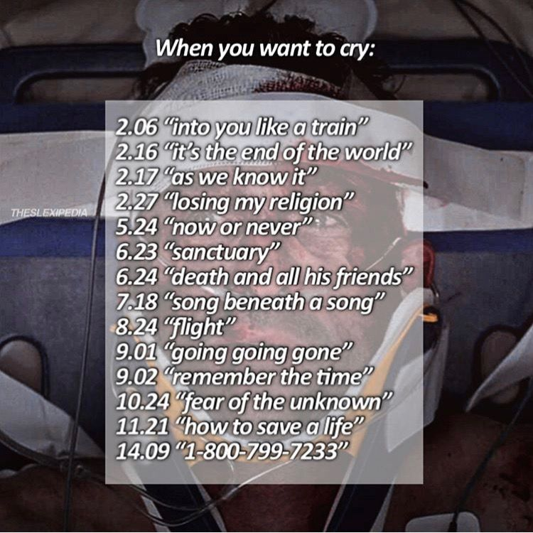 Episodes To Watch When You Want To Cry Greys Anatomy