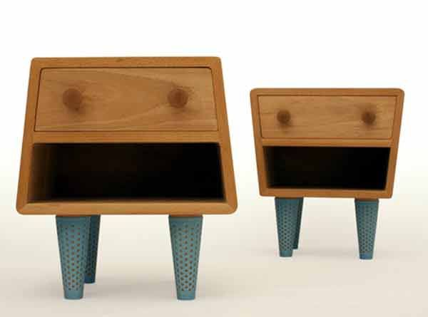 these nightstands just make me laugh! fun furniture