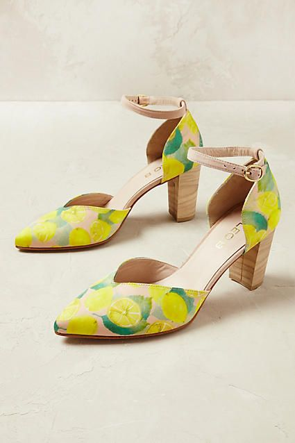 f11417609b7 These lemon printed heels could be paired with a pencil skirt and ...