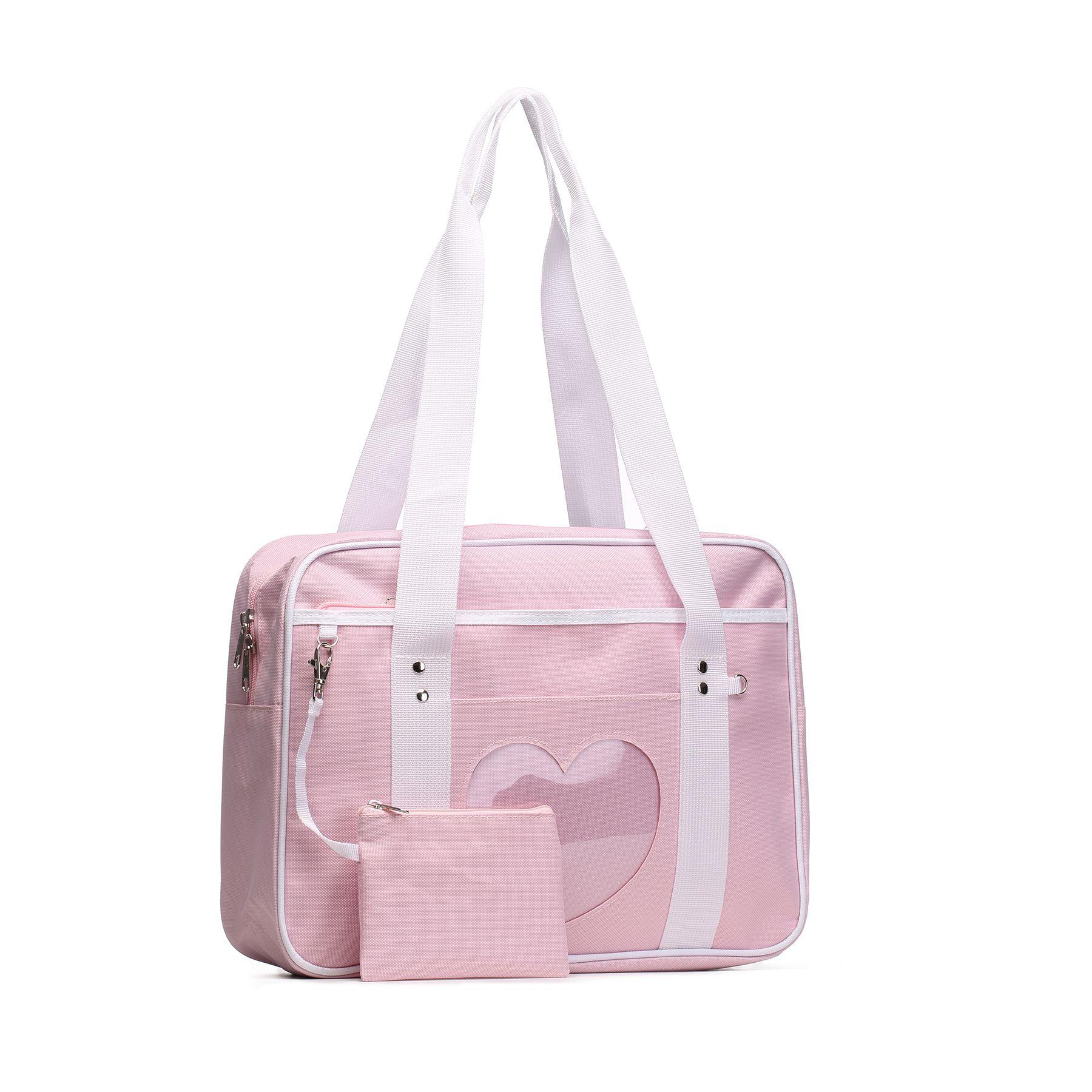 SteamedBun Ita Bag Heart Crossbody Bags for Women Girls Small Clear Phone Wallet