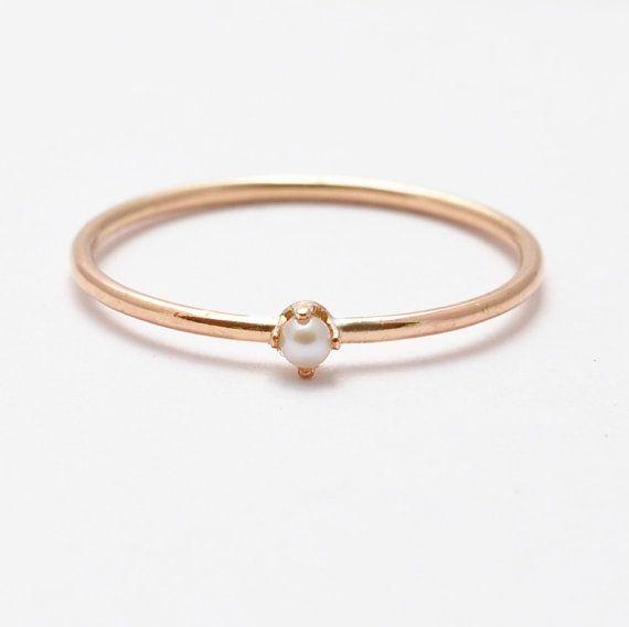 Piedras preciosas perlas anillo blanco perla & por BlueRidgeNotions, $45.00