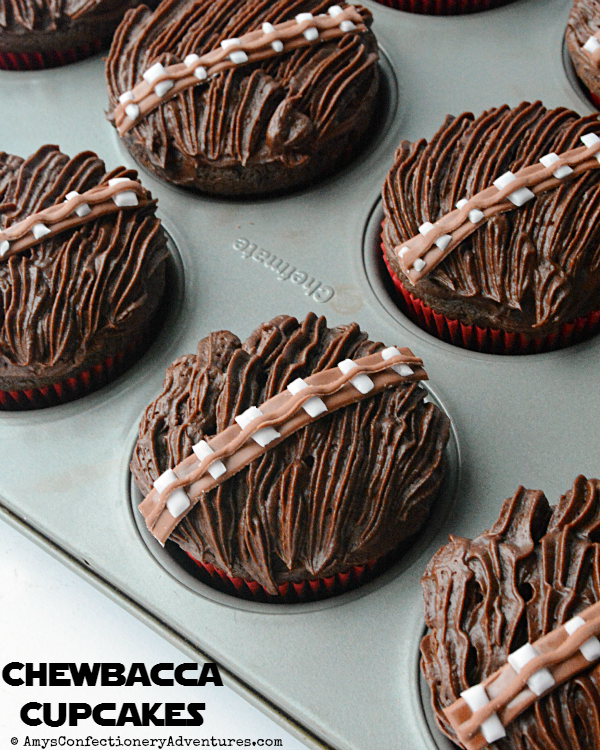 Amy's Confectionery Adventures: Chewbacca Cupcakes