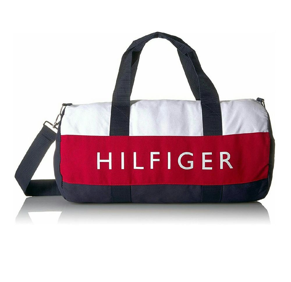 8362268dc7fb Details about Tommy Hilfiger Duffle Bag Travel/gym/weekender Canvas ...