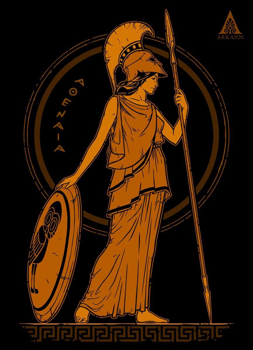 Athena Ancient Greek Goddess T-Shirt