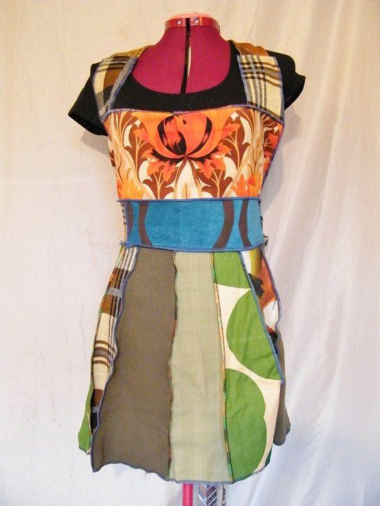 Apron Shirt Festival Shirt upcycled katwise style by dyedtrying, $67.00