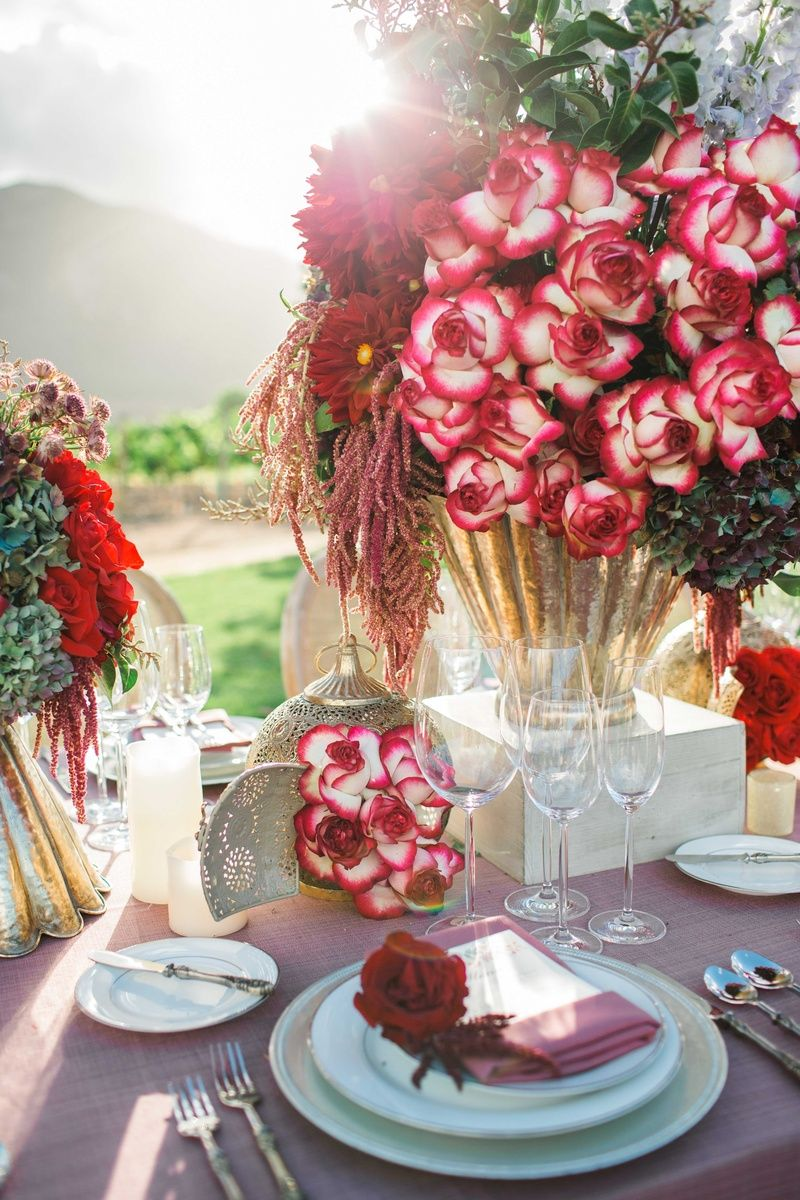 71ebfd0f999b Lush and Rustic Floral Arrangements on Vineyard Table Photography  Jenny  Quicksall Photography Read More