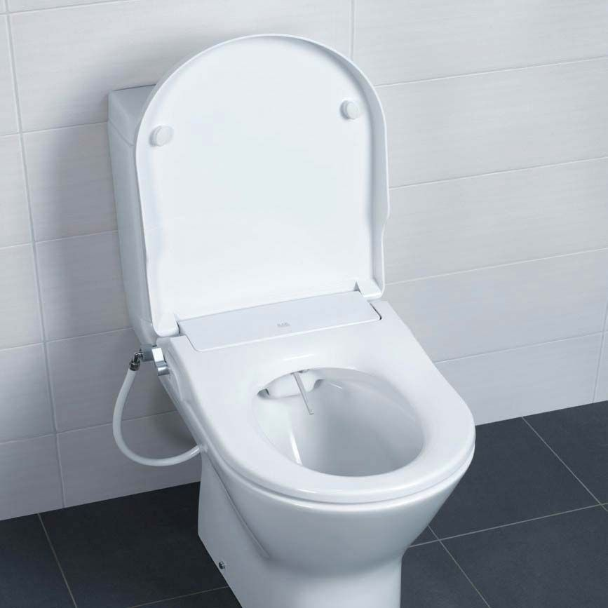 Astounding Rak Manual Non Electric Bidet Function Soft Close Toilet Machost Co Dining Chair Design Ideas Machostcouk