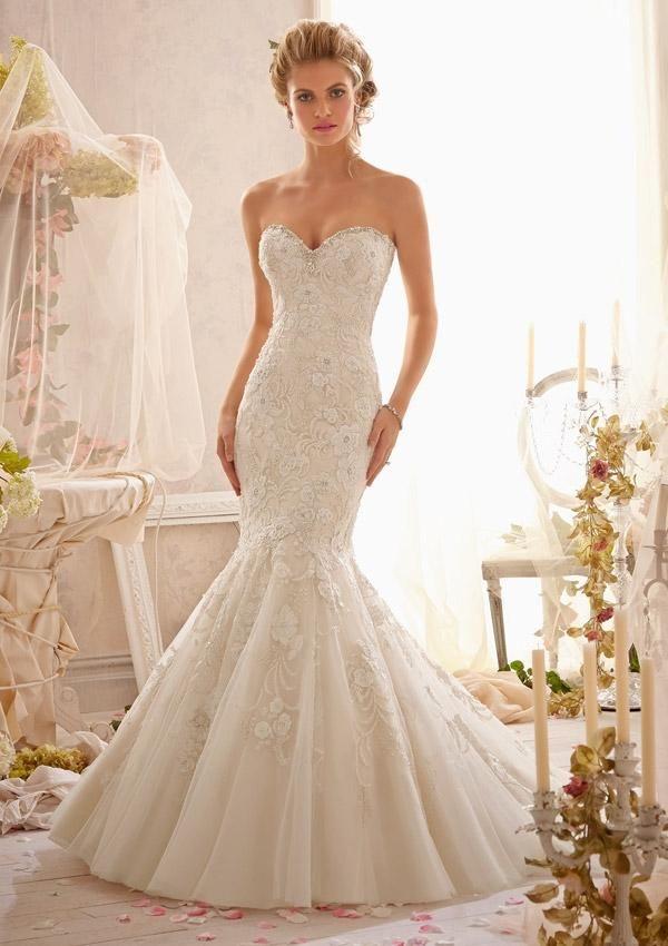 Mori Lee 2623, $645 Size: 6 | Used Wedding Dresses | Beaded ...