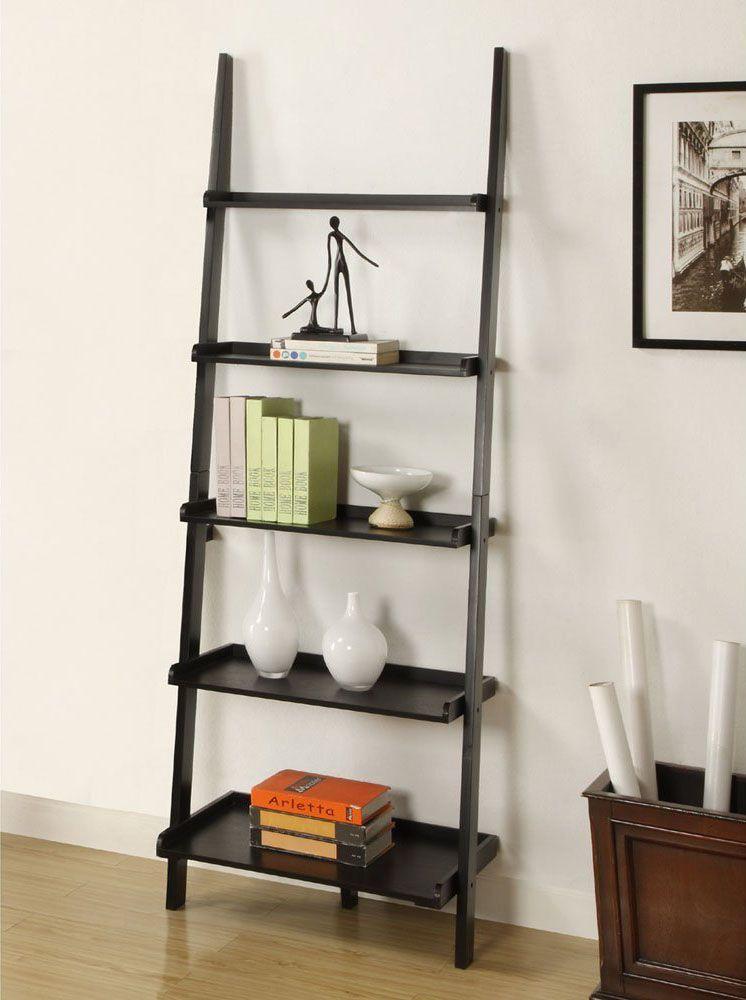 Leaning Minimal Wood Bookshelf