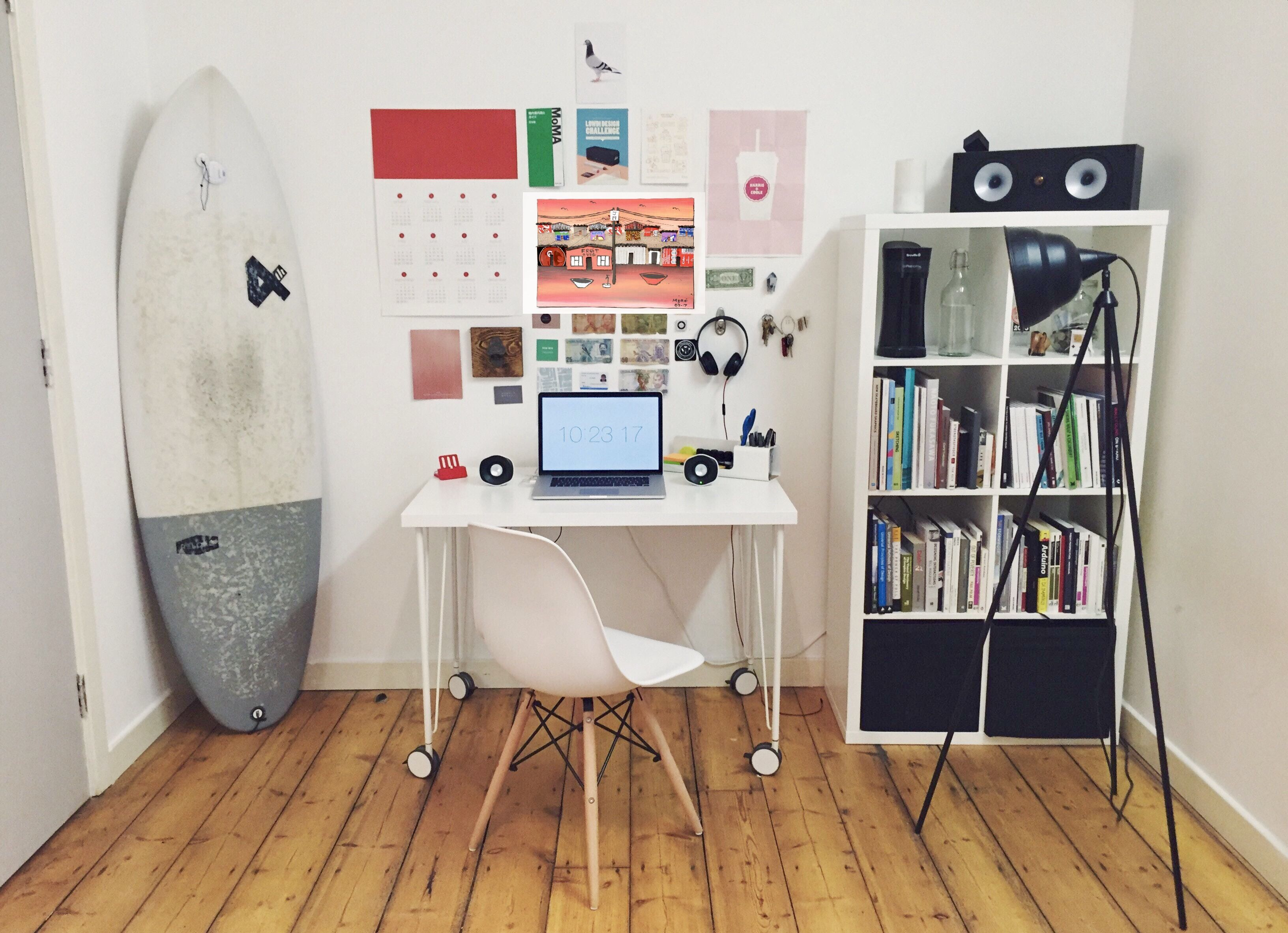 Our Township Art Is Nested Beautiful In This Home Office
