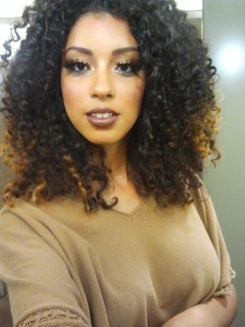 Curly banging