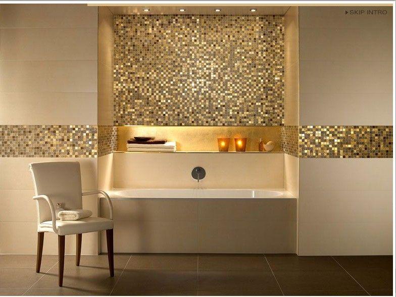 Photos de salle de bains avec mosa ques photos de salle for Mozaique salle de bain