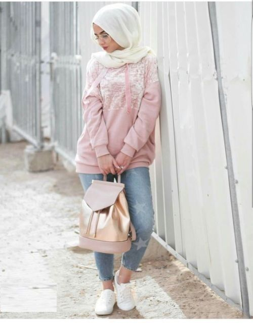 How to wear boyfriend jeans with hijab \u2013 Just Trendy Girls