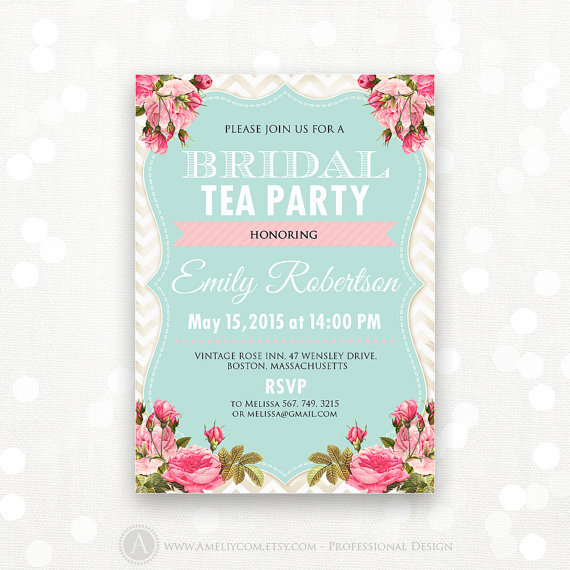 78 Best images about Invites - Hen's on Pinterest | Tea party baby ...