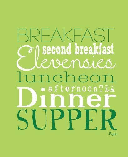 Good Morning Hobbit Quote: Lord Of The Rings Eating Schedule #quote