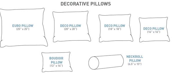 king size pillows decorative pillow sizes