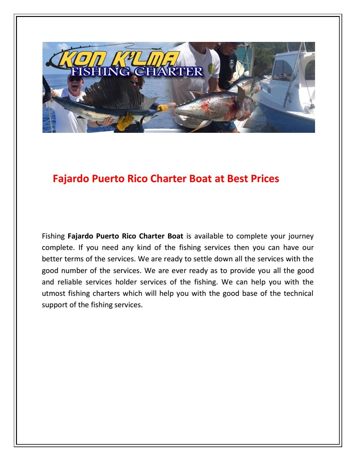 Fajardo puerto rico charter boat at best prices charter