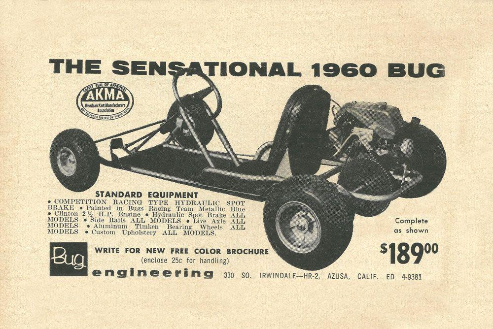 Vintage Very Rare 1960 Bug Go Kart Ad Ebay