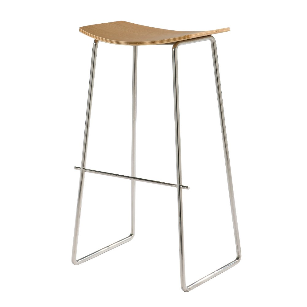 Timber Backless Barstool With Wood Seat American White