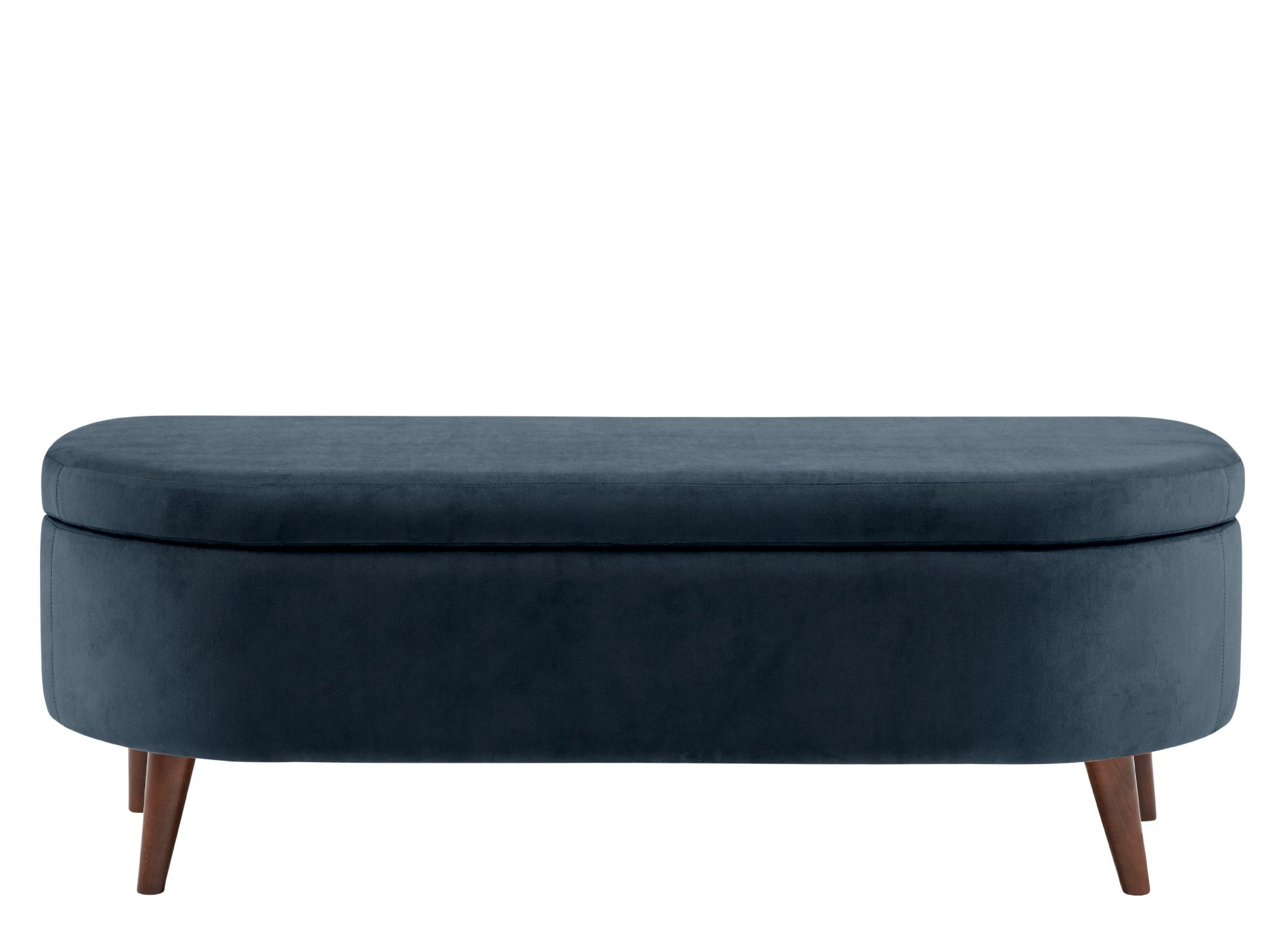 Lulu Ottoman Bench Indigo Blue Ottoman Bench Ottoman Bench With Storage