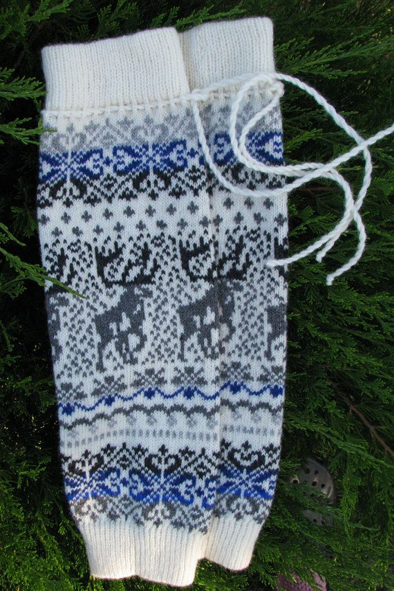 Wool Leg Warmers Knit leg warmers wool socks boot cuffs Norwegian ...