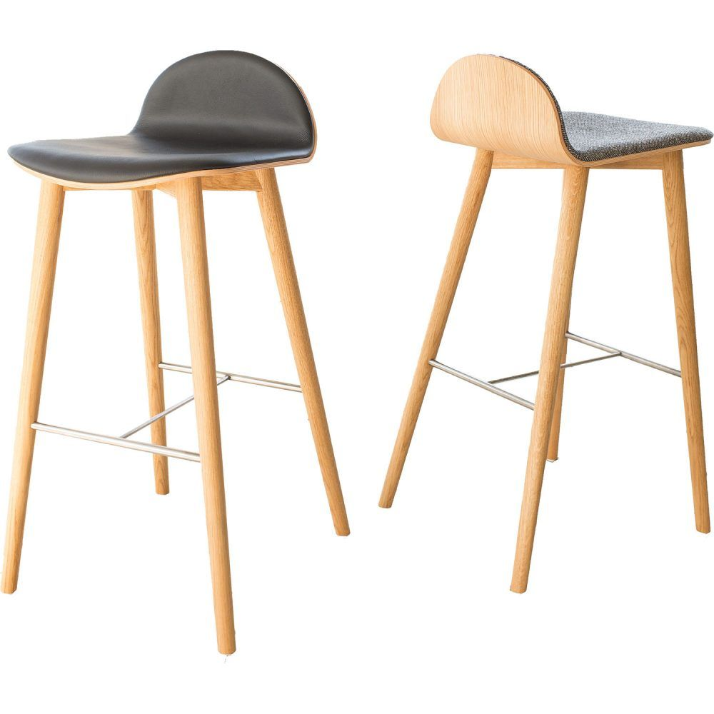 Swell Icons Of Denmark The Nam Nam Wood Bar Stool With Low Back Dailytribune Chair Design For Home Dailytribuneorg