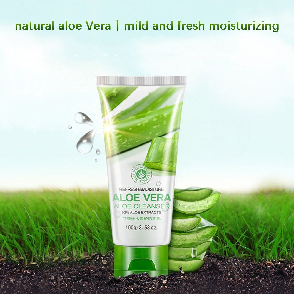 Huntgold Refresh And Moisture Aloe Vera Cleanser Facial Face Skin Care Clean Nourishing 100g 3 53oz Click Image F Aloe Vera Cleanser Skin Care Face Skin Care