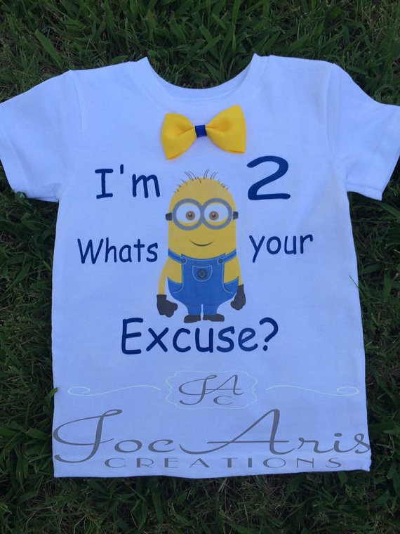 Minion Birthday Shirt Boy Top