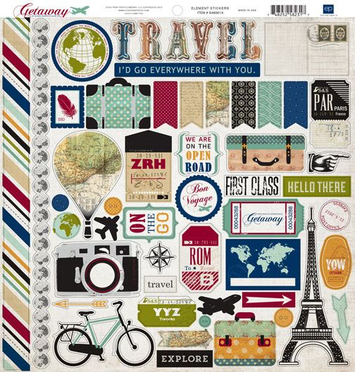 Quotes Travel Scrapbook Stickers