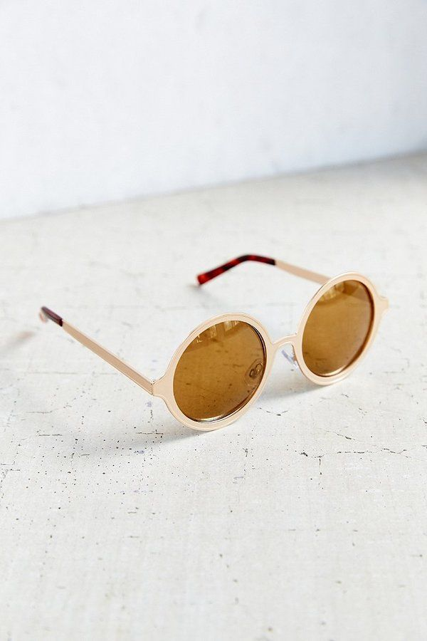 Painted Metal Round Sunglasses