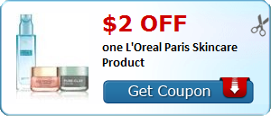 New Coupon!  $2.00 off one L'Oreal Paris Skincare Product - http://www.stacyssavings.com/new-coupon-2-00-off-one-loreal-paris-skincare-product/