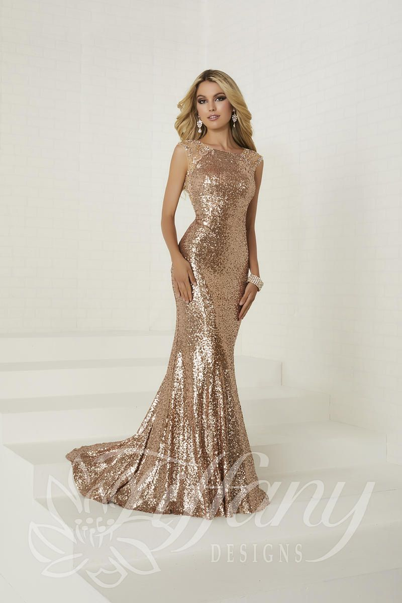 b5820ca200 Tiffany Designs 16292 Sequin Gala Gown in 2019